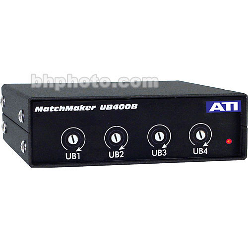 ATI Audio Inc UB-400B - 4-Channel Uni-directional Level Matching Device