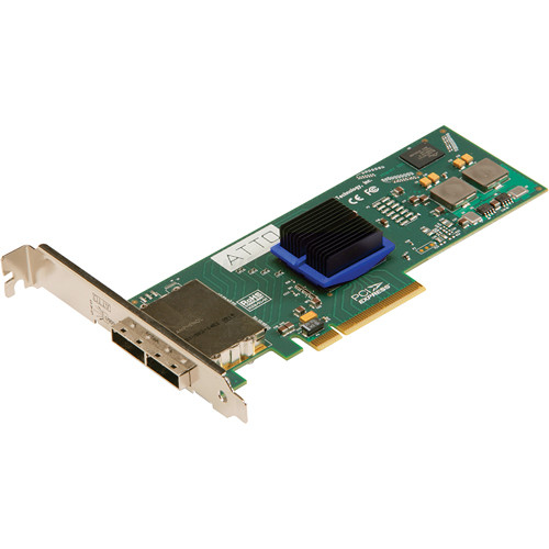 ATTO Technology ExpressSAS 6 Gbps SAS/SATA PCIe 2.0 Host Bus Adapter (8 External Ports)