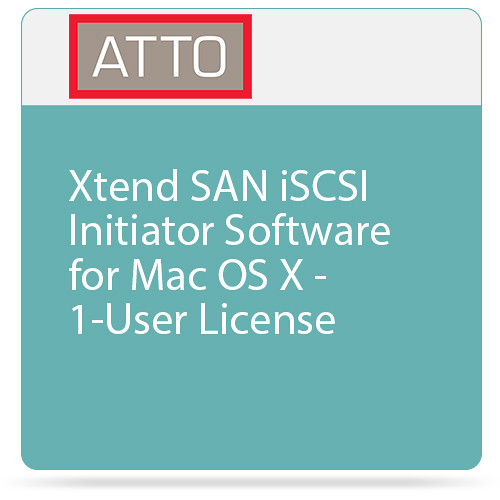 ATTO Technology Xtend SAN iSCSI Initiator Software for Mac OS X - 1-User License