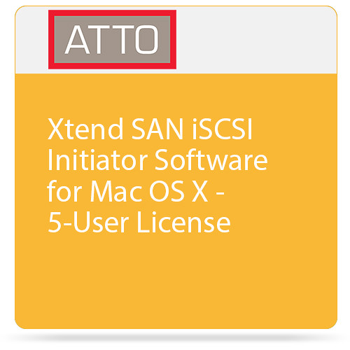 ATTO Technology Xtend SAN iSCSI Initiator Software for Mac OS X - 5-User License