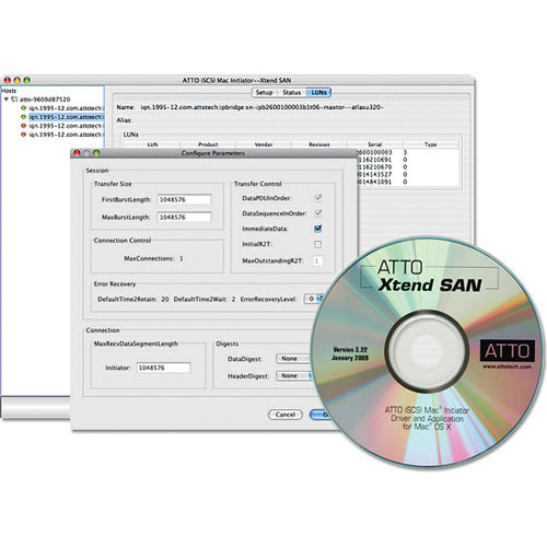 ATTO Technology Xtend SAN iSCSI Initiator Software for Mac OS X - 100-User License