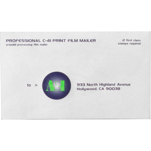 A&I Develop + Prints Mailer for 220 Print Film