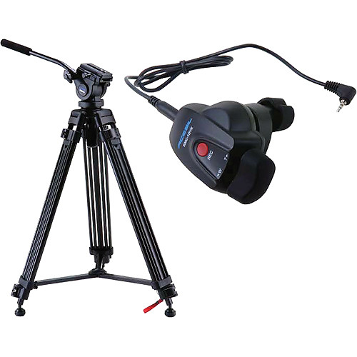 Acebil i-605DX Prosumer Tripod System with RMC-1DVX Video Lens Zoom Controller