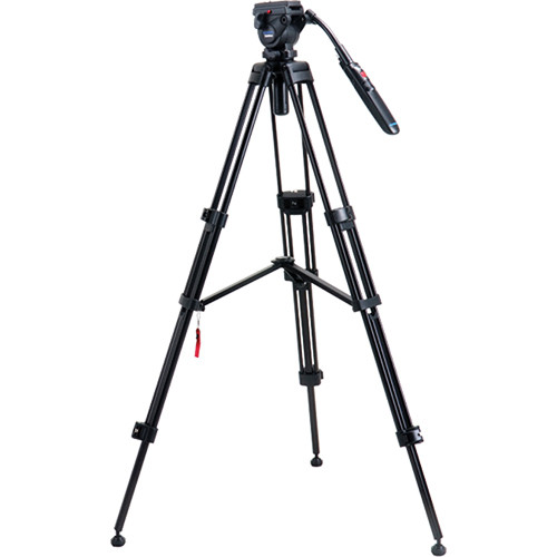 Acebil i-605DX Aluminum Tripod System with RMC-P3PL Zoom Control Pan Bar