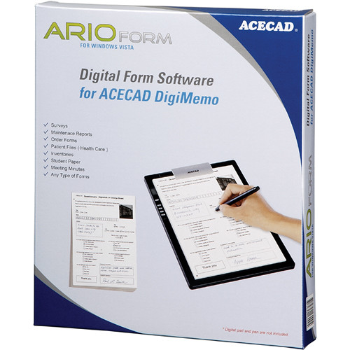 Acecad ArioForm Digital Form Software for DigiMemo