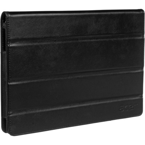 Acer A500 Foldable Leather Case (Black)