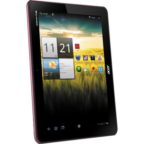 "Acer 8GB Iconia Tab A Series 10.1"" A200-10r08u Tablet (Metallic Red)"