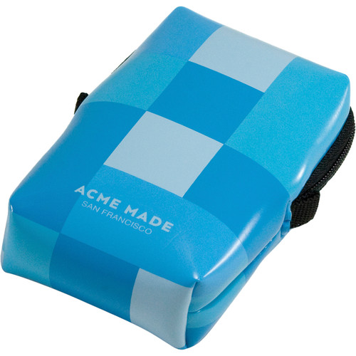 "Acme Made Smart Little Pouch (1.2 x 2.5 x 4.2"", Blue Gingham)"