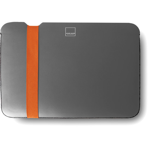 "Acme Made Skinny Sleeve for a 13"" MacBook Air Laptop (Gray/Orange)"