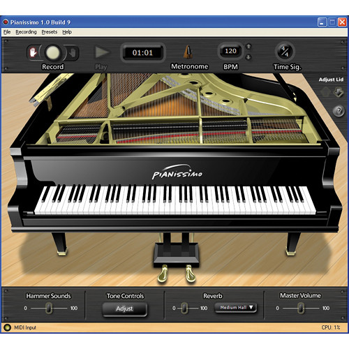 Acoustica Pianissimo Virtual Grand Piano Software