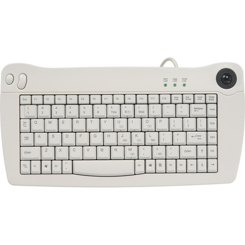 Adesso ACK-5010PW USB Mini-Trackball Keyboard (White)