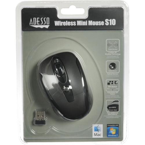 Adesso Wireless Mini Mouse S10