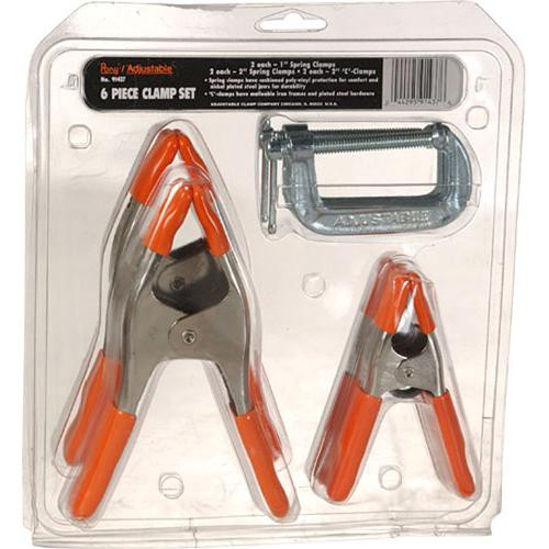 Pony Adjustable Clamps C and Pony Clamp Set - Set of 6