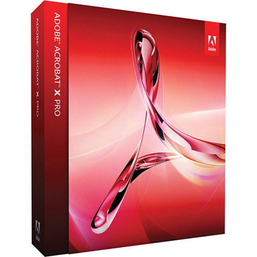 Adobe Acrobat X Pro Software for Windows (Upgrade from Acrobat 7/8/9 Standard, 9 Extended, 7/8 3D)