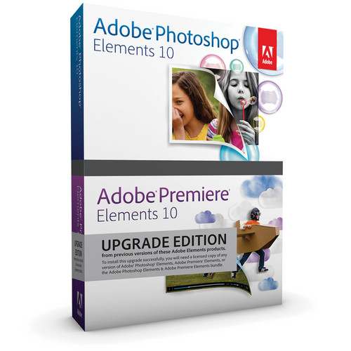 Adobe Photoshop Elements 10 & Premiere Elements 10 for Mac & Windows (Upgrade from Any Previous Elements Version)