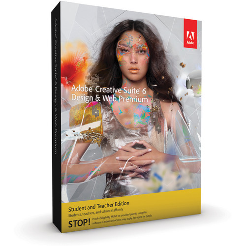 Adobe Creative Suite 6 Design & Web Premium for Windows (Student & Teacher Edition)