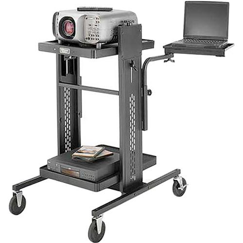 "Advance PIXMate APT2-42 Projector Table w/ 8 x 24 x 12"" Adjustable Shelf"