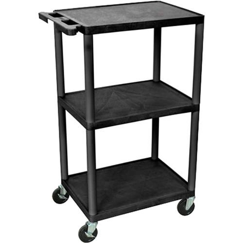 """Advance PL2-42 PixMate Lightweight Plastic Cart - 18"""" x 24"""" Shelf - 42"""" Height"""