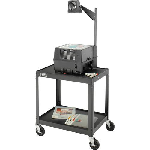 "Advance 2 Shelf TV Cart, Black - 18x24x17"""