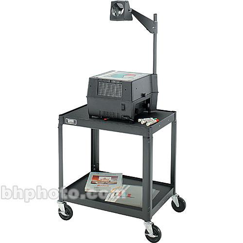"Advance 2 Shelf TV Cart, Black - 18x24x26"""