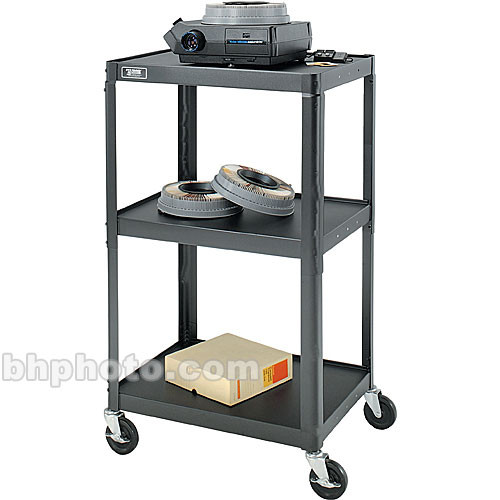 "Advance 2 Shelf TV Cart, Black - 18x24x42"""