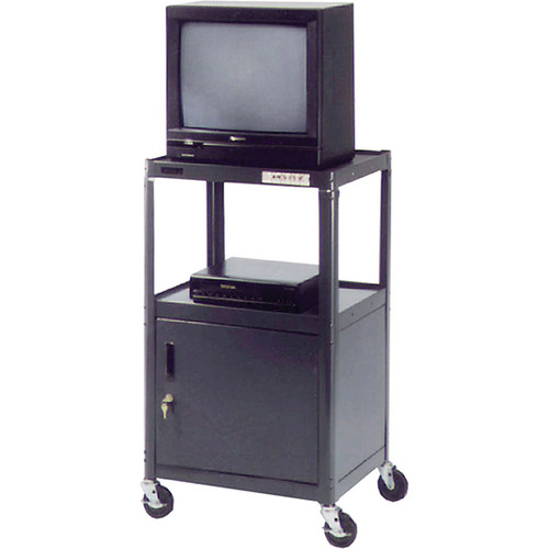 "Advance PIXMate PM2C-42J Adjustable A/V Cart w/ Cabinet (18 x 24 x 42"")"