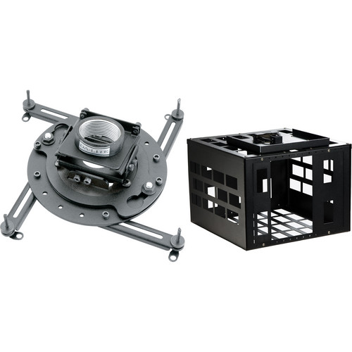 Advance Universal Projector Ceiling Mount Kit (Up to 50 lbs, Black)