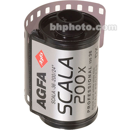 AgfaPhoto Scala-200 135-36 Professional Black & White Slide Film (ISO-200) (EXPIRED June 2010)