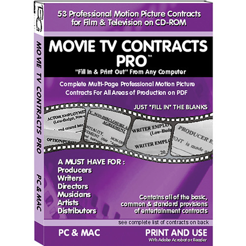 Alan Gordon Enterprises Movie TV Contracts Pro 1007 MOVIETVCON