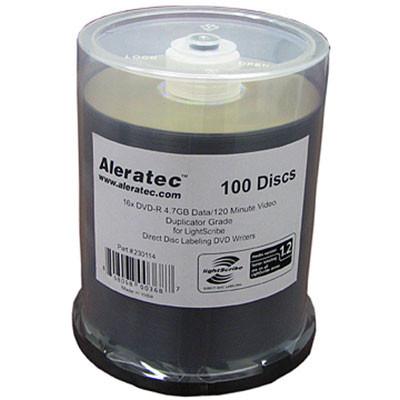 Aleratec DVD-R LightScribe V1.2 Duplicator Grade Media (Spindle Pack of 100)
