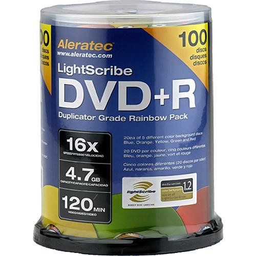 Aleratec DVD+R LightScribe 4.7GB 16x Recordable Rainbow Disc (Pack of 100)
