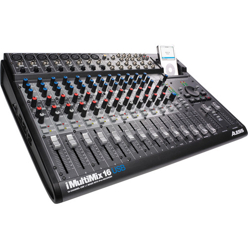 Alesis iMultiMix 16 USB - 16 Channel Recording/Sound Reinforcement Mixer with iPod Doc