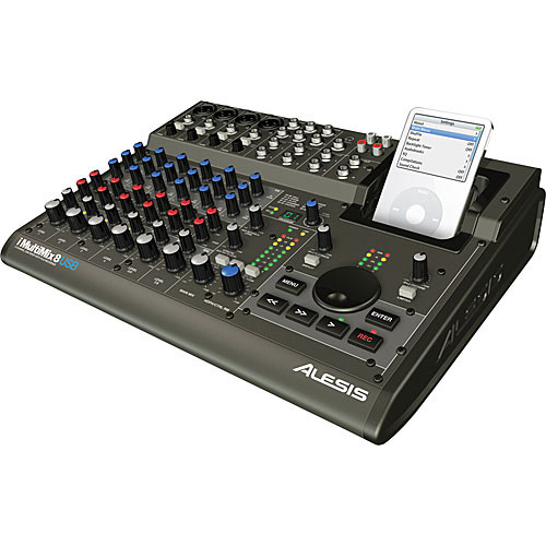 Alesis iMultiMix 8 USB 8-Channel Recording Mixer with USB and iPod Dock