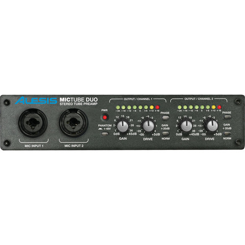 Alesis MicTube Duo - Tube Based Microphone Preamplifier