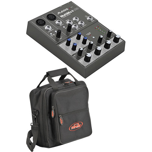 Alesis MultiMix 4 USB Mixer with Padded Bag Kit