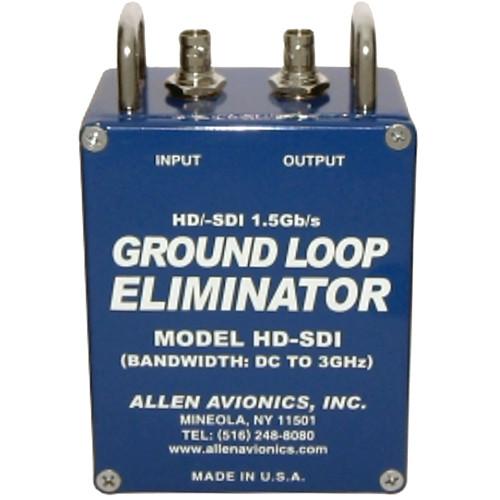 Allen Avionics HD-SDI Video Hum Eliminator - Video Noise and Hum Eliminator, HD-SDI Video, 75 ohms, Metal Housing