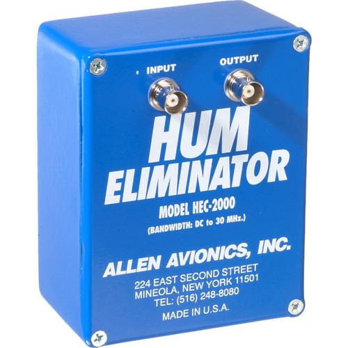 Allen Avionics HEC-2000 Video Hum Eliminator, Hum and Noise Eliminator, One I/O, 75 ohms, Metal Housing