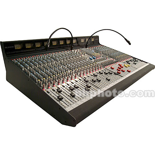 Allen & Heath GL3800M 24 Channel 8 Bus Sound Reinforcement Console with 4 Stereo Input Channels - Stereo Channels Positioned Right of Master Section