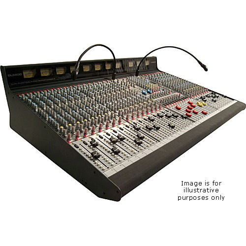 Allen & Heath GL3800M 24 Channel 8 Bus Sound Reinforcement Console with 4 Stereo Input Channels - Stereo Channels Positioned at Outside Right