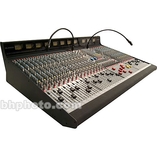 Allen & Heath GL3800M 40 Channel 8 Bus Sound Reinforcement Console with 4 Stereo Input Channels - Stereo Channels Positioned Right of Master Section