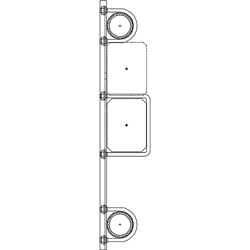 "Altman 300-Type-12 18"" Double Pipe Bracket"