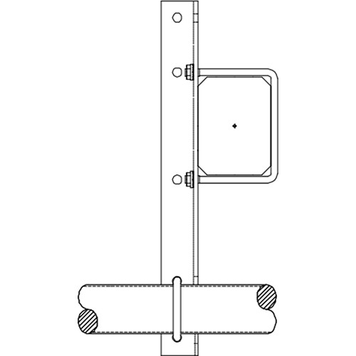 "Altman 300-Type-14 90"" Pipe Grid Bracket"