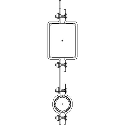 """Altman 300-Type-16 16"""" Single Pipe In-line Bracket"""