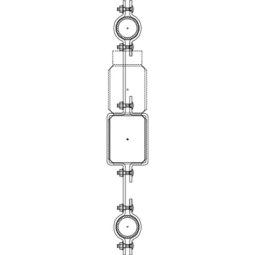 Altman 300-Type-17 Double Pipe In-line Bracket