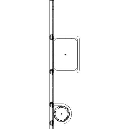 "Altman 450-Type-11 16"" Single Pipe Bracket"