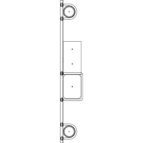 "Altman 450-Type-13 24"" Double Pipe Bracket"