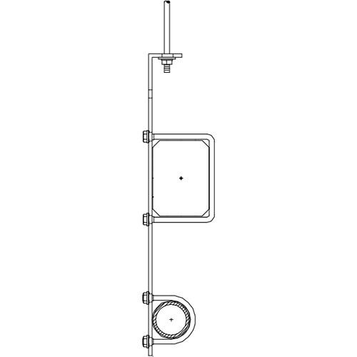 "Altman 450-Type-15 16"" Single Pipe Bracket"