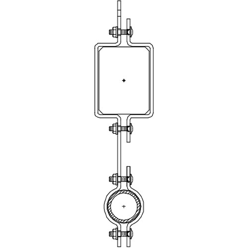 Altman 450-Type-16 Single Pipe In-line Bracket