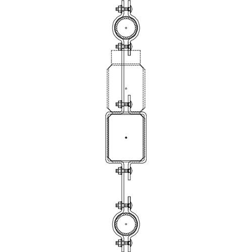 Altman 450-Type-17 Double Pipe In-line Bracket