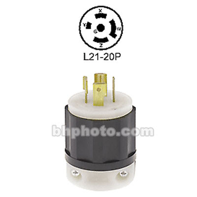 Altman Twist-Lock 4 Pole, 5 Wire L21-20P Connector - Male - 20 Amps